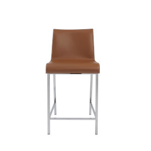 Cam Cognac  17-Inch Counter Stool, Set of 2