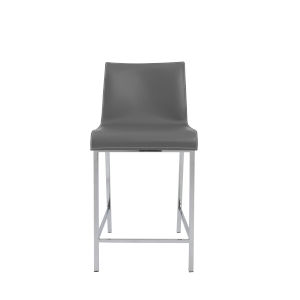 Cam Gray 17-Inch Counter Stool, Set of 2