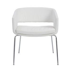 Amelia White 24-Inch Lounge Chair, Set of 2
