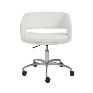 Amelia White 24-Inch Office Chair