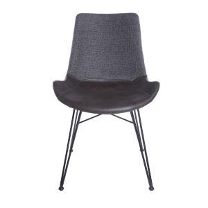 Alisa Dark Gray 24-Inch Side Chair, Set of 2