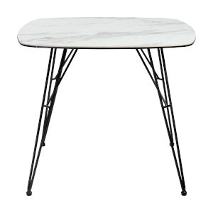 Alisa White and Black 35-Inch Dining Table