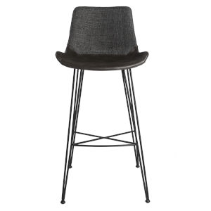 Alisa Dark Gray 22-Inch Bar Stool