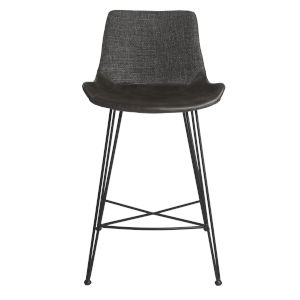 Alisa Dark Gray 22-Inch Counter Stool