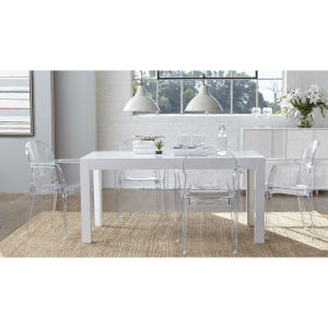 Adara White 63-Inch Rectangle Dining Table