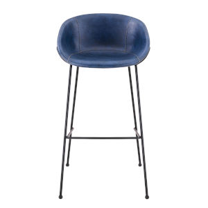Zach Blue 21-Inch Bar Stool, Set of 2