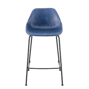 Corinna Blue 22-Inch Counter Stool, Set of 2