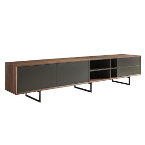 Anderson Walnut and Gray 94-Inch Media Stand