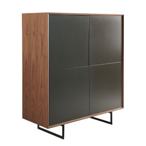 Anderson Walnut and Gray 43-Inch Cabinet