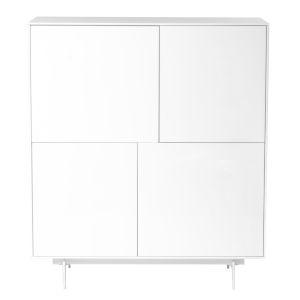Birmingham White 43-Inch Cabinet Stand