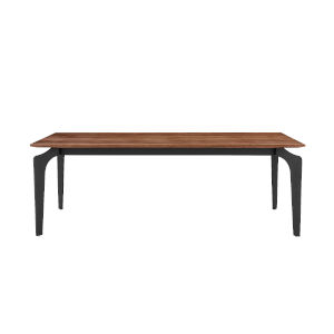 Brighton Walnut and Black 52-Inch Coffee Table