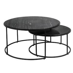 Alrik Black 32-Inch Nesting Table, Set of 2