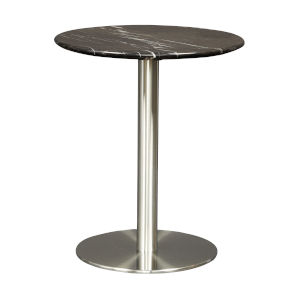Tammy Black 18-Inch Round Side Table