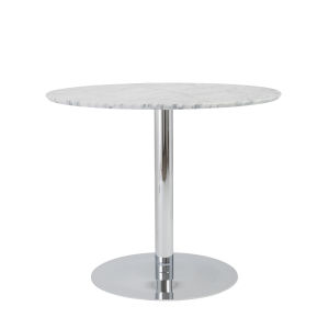 Tammy Gray and Stainless Steel 37-Inch Round Dining Table