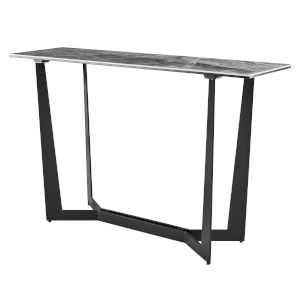 Mateo Gray and Black 47-Inch Console Table