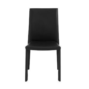 Hasina Black 19-Inch Stacking Side Chair, Set of 4