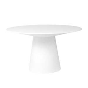 Wesley White 53-Inch Round Dining Table