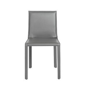 Eysen Matte Anthracite  18-Inch Side Chair, Set of 2