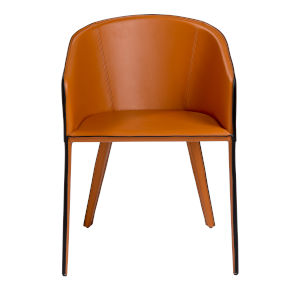 Pallas Cognac  21-Inch Arm Chair