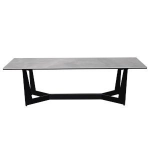 Mateo Gray and Black 47-Inch Coffee Table