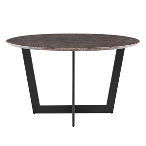Quade Brown and Black 51-Inch Dining Table