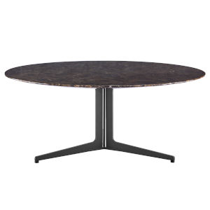 Ramili Emperador Marble and Gray 47-Inch Round Coffee Table