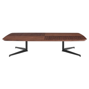 Ramili Walnut and Gray 32-Inch Rectangular Coffee Table