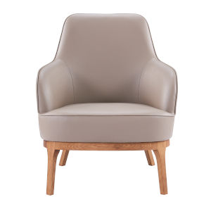 Xemner Taupe 28-Inch Lounge Chair