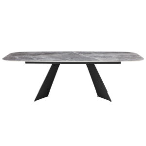 Lizarte Gray 94-Inch Dining Table