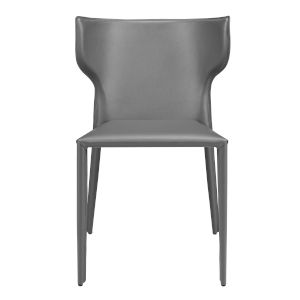 Divinia Gray 20-Inch Stacking Side Chair