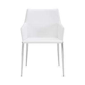 Kasen White 22-Inch Arm Chair