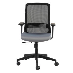 Spiro Black 26-Inch Office Chair with Adjustable Arms