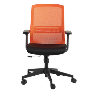 Spiro Orange 26-Inch Office Chair with Adjustable Arms