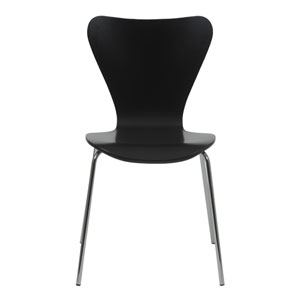 Loring Black 19-Inch Side Chair, Set of Four