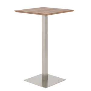 Uptown Stainless Steel Bar Table Column
