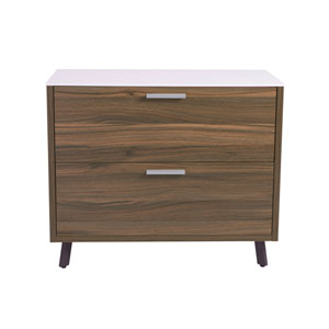 Uptown White 36-Inch File Cabinet