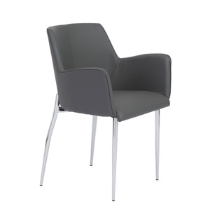Emerson Gray Chair with Base, Set of 2