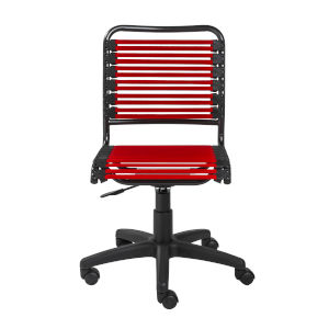 Emerson Flat Red Bungie Low Back Office Chair