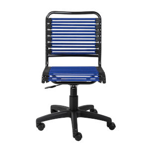 Emerson Flat Blue Bungie Low Back Office Chair