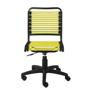 Emerson Flat Green Bungie Low Back Office Chair