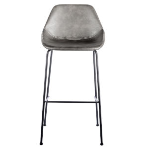 Emerson Dark Gray Leatherette Bar Stool, Set of 2