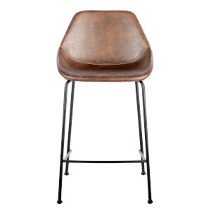 Nicollet Brown Leatherette Counter Stool, Set of 2
