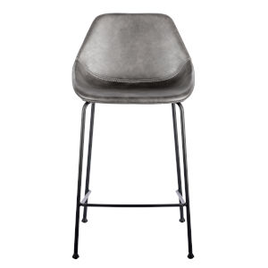 Nicollet Dark Gray Leatherette Counter Stool, Set of 2