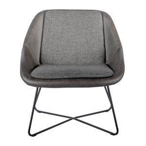Loring Dark Gray Leatherette Lounge Chair