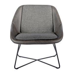 Emerson Dark Gray Leatherette Lounge Chair
