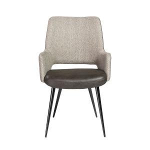 Loring Dark Gray Leatherette Arm Chair