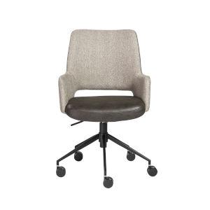 Emerson Light Gray and Dark Gray Leatherette Tilt Office Chair
