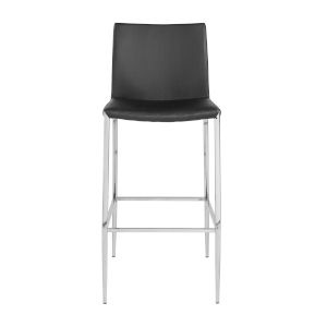 Loring Black Leatherette Bar Stool