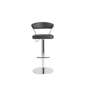 Emerson Black Leatherette Adjustable Stool