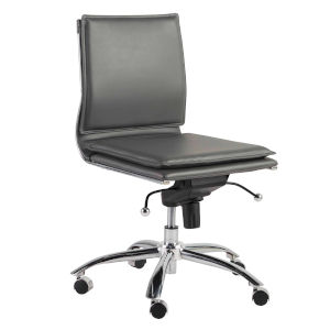 Freya Gray Low Back Armless Office Chair